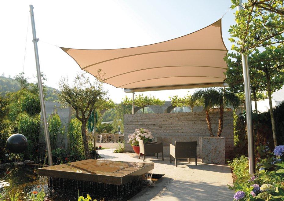 Sonnensegel wei cool amazing balkon sonnensegel with - Dyning sonnensegel ...