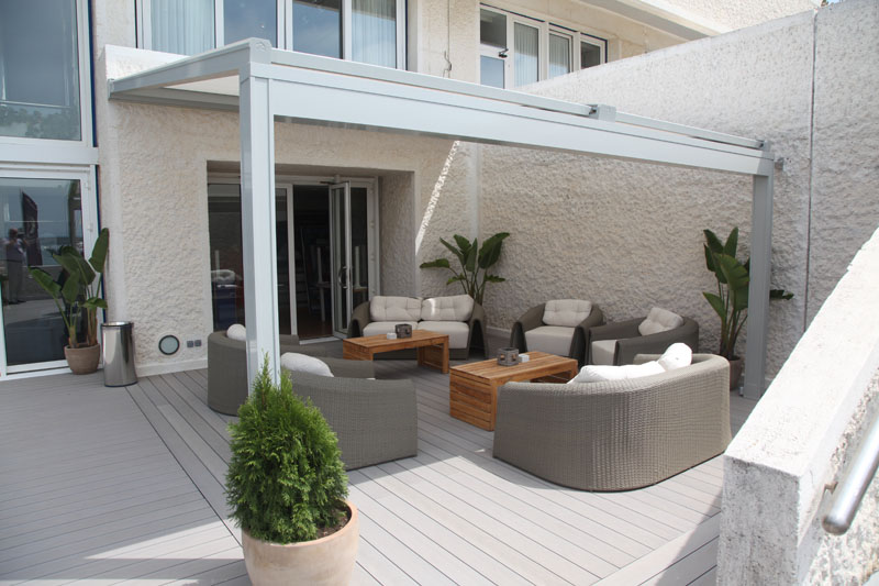 textiles terrassendach der flexible allesk nner aus stoff. Black Bedroom Furniture Sets. Home Design Ideas